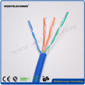 U/UTP Steel Wire Support Unshielded Cat 5e Twisted Pair Installation Cable pictures & photos