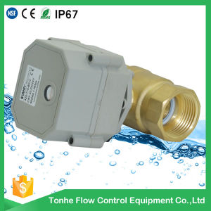 1 Inch Mini Motor Operated Motorized Electric Spring Return Motorized Ball Valve pictures & photos