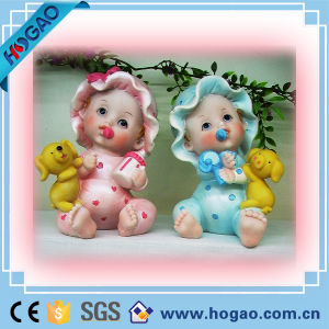 Cute Baby Polyresin Baby Figurine for Decoration or Gift pictures & photos