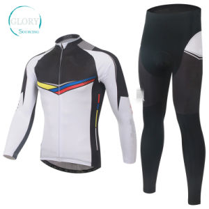 100% Polyester Long Sleeve Cycling Jersey pictures & photos