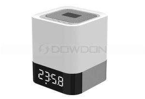 Bluetooth LED Touch Speaker with Clock Alarm Supports TF Card / USB /Aux Slots pictures & photos