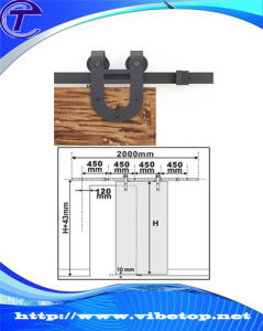 Modern Stainless Steel Sliding Barn Door Roller Set Hardware pictures & photos