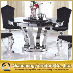 Home Furniture Dining Table Set Stainless Steel Base pictures & photos