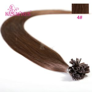 Human Hair Extension Nail Tip Remy Hair pictures & photos