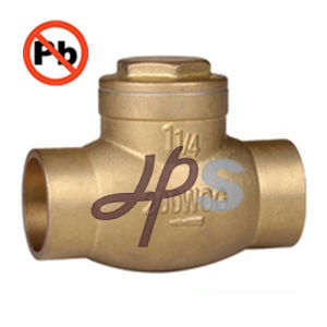 NSF-61 Standard Lead Free Brass Swing Check Valve for Drinking Water System pictures & photos