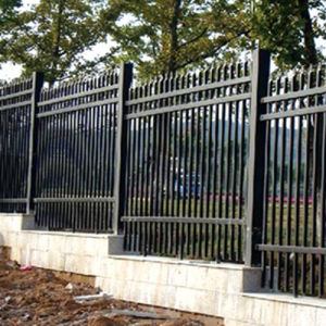 Black Galvanized Fence, Powder Coating Fence, Garden Fence, Outdoor Fence pictures & photos