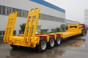 Popular 16m Extendable Lowbed Semi Trailer for Large Equivement Transportation pictures & photos
