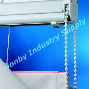 Replacement Beaded White Plastic Chain for Roman Blind