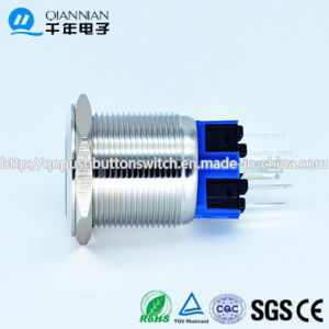 Qn22-A1 22mm Ring Type Flat Head Latching Stainless Steel Push Button Switch pictures & photos