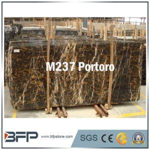Natural Stone Polished Portoro Black Marble Slabs/Tiles pictures & photos