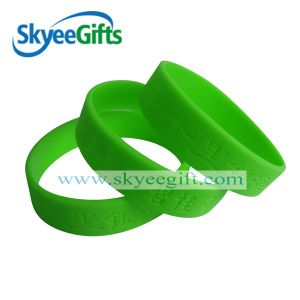 1 Inch Debossed Silicone Wristband Non Color pictures & photos