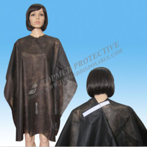 Nonwoven Hair Cutting Cape Salon Diposable Hairdressing Cape pictures & photos