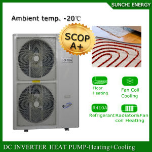 Evi Tech. -25c Winter Floor Heating 100~300sq Meter Room 12kw/19kw/35kw Auto-Defrost High Cop What Is a Heat Pump Split System pictures & photos