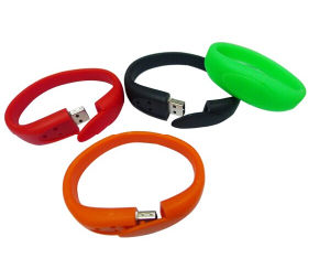 Promotional Colorful PVC Material Wrist Band USB Flash Disk 2.0 4GB / 8GB / 16GB / 32GB / 64GB Eco Friendly pictures & photos