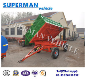 5t Agriculture Cargo Side Dump Trailer/Drawbar Trailer/Tipping Trailer pictures & photos