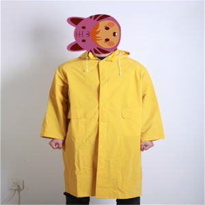 Durable PVC / Polyester Rainwear with Hood pictures & photos