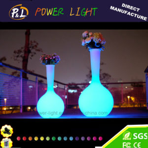 Garden Furniture Plastic Illuminated LED Flower Vase pictures & photos