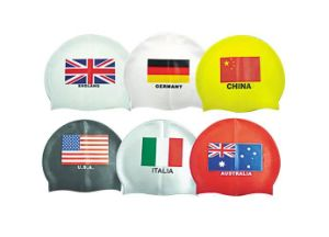Printed Silicone Swimming Cap with Lowest Price pictures & photos