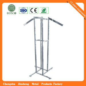 Metal Double-Pole Display Clothes Drying Rack pictures & photos