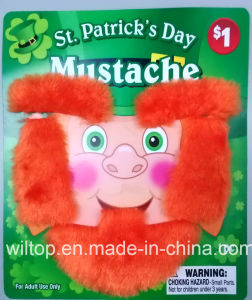 Plush St Patrick′s Day Beard&Moustache (BA001) pictures & photos