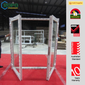 Best Materials UPVC Double Swing French Doors with Roto Hardware pictures & photos