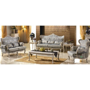 Living Room Furniture with Wood Sofa Set (503A)