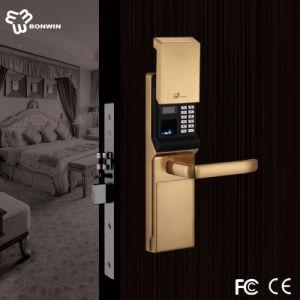 Best Door Lock Unlocked Via Fingerprint/Mechanical Code/Key pictures & photos