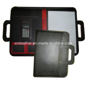 Matching Color PU Leather Handle Portfolio with Calculator pictures & photos