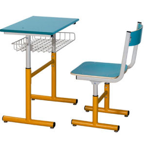 Best Quality Classroom Single Desk and Chair School Furniture (FS-3210) pictures & photos