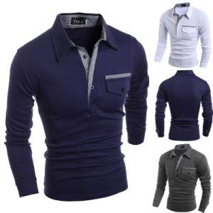 2017 Custom Fashion Zip Neck Polo Shirt (A403) pictures & photos