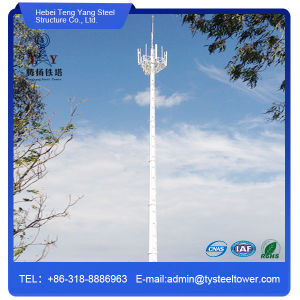 Steel Galvanized Monopole Telecom Radio Tower Antenna Lighting Mast pictures & photos
