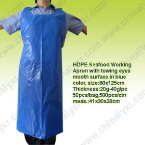 Ly Thick Plastic Disposable Aprons pictures & photos