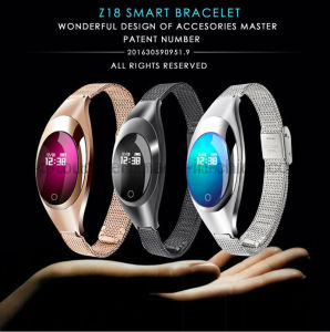 Elegant Wristband Bluetooth Smart Bracelet with Heart Rate Monitor Z18 pictures & photos