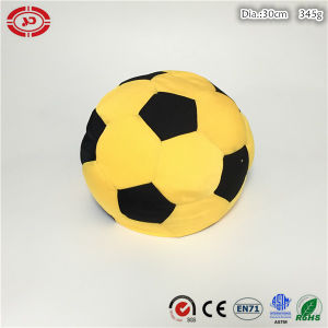 Football Yellow and Black New Stuffed Foam Beads Soft Toy pictures & photos