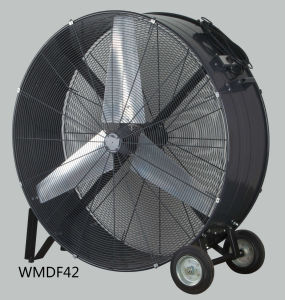 42 Inch Heavy-Duty Wheels and Carrying Handles Drum Fan High Volume Fan High Velocity Fan for Industrial & Commercial Use pictures & photos