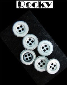 Printing Alloy Button Four Hole Beautiful Button