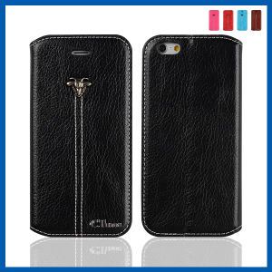 Black PU Leather Case with Card Slot for iPhone 6 pictures & photos