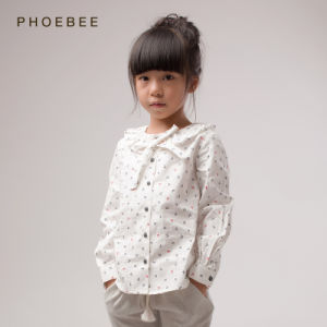 Phoebee Wholesale 100% Cotton Leisure Kids Wear for Girls pictures & photos