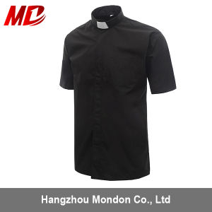 Man′s Clergy Shirts Short Sleeve Black Color pictures & photos
