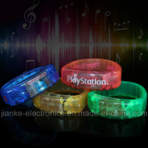 Music LED Bracelet Promotion Gifts with Logo Print (4011) pictures & photos