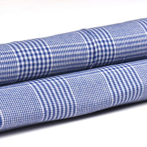 21s Satin Tc 50/50 50% Polyester 50% Cotton Checked Fabric