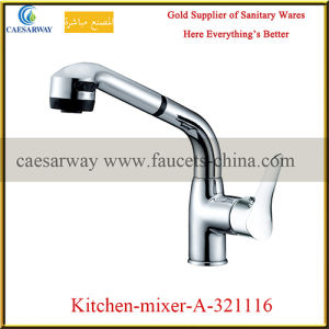 Single Handle Pull out Spray Kitchen Sink Faucet pictures & photos