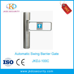 Security Automatic Cylinder Type Swing Barrier for Supermarket pictures & photos