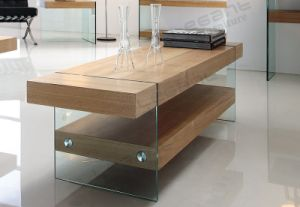 Noval Heavy-Duty MDF Coffee Table with Glass in Home pictures & photos