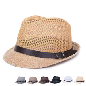 Men Women Fashion Summer Linen Straw Bucket Hat (YKY3238) pictures & photos