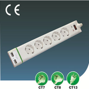 EU Electrical Switch Power Socket with USB pictures & photos