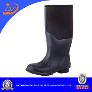 Men Rubber Boots Half Thigh Black Neoprene Boot