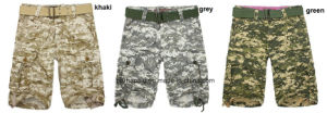 Cool Mens Camo Print Cotton Cargo Shorts pictures & photos