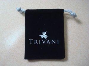Customized Black Velvet Jewelry Bag pictures & photos