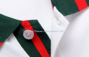 Custom White Cotton Embroidery Polo Shirt/ Polo T Shirt pictures & photos